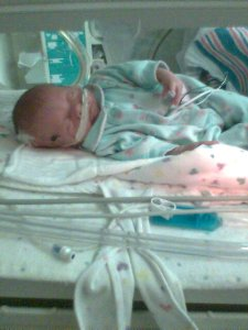 Baby Rhonda at 2 weeks, in her Sunday Best~