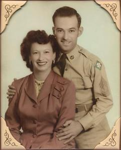 Sam and Laurena Ranelli Wedding pic, 1948