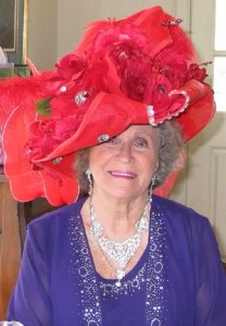 Shirley Jackson, 78 years young and Queen Mother of the Totally Eccentric, Adventurous Red Hatters of Vienna, Virginia!
