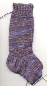 Sock #1, half done