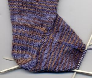 Sock gusset detail