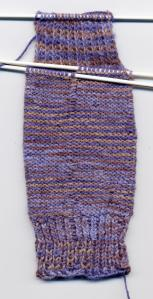 """Sock Heel, RS- 1.5"""" of 2 inches for pattern"""