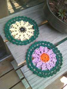 Purple Coneflower, Blackeyed Susan Floral Coasters