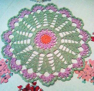 Purple Coneflower Doily