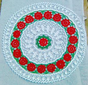 Christmas Floral Round Done!