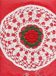 Christmas Floral Round, interupted