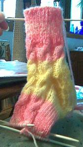 Mommy Sock, day 3