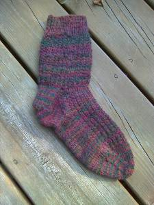 Sunrise Sock, one done